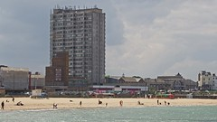 Carbuncle Beach (Lord Eglinton) Tags: concrete tide beach tower england sorethumb seaside kent margate planningdisaster eyesore councillor disaster