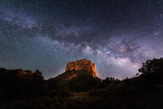 Milky Way over Courthouse Butte