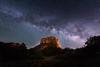 Milky Way over Courthouse Butte (Sandra Herber) Tags: arizona astrophotography milkyway night sedona stars