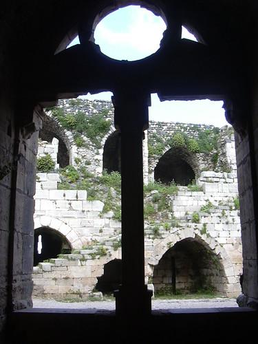 Crac des Chevaliers, Gotischer Burghof