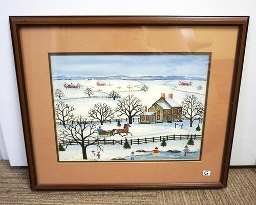 "P. Buckley Moss ""Sleigh Ride"" Framed Print ($224.00)"