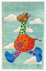"Girafinha ""Angui"" (Anna Luiza Aragão) Tags: markers giraffe girafa color colorful sinoart marcadores marcador stabilo baby toy babytoy markerpainting toyillustration"
