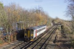 153309 passes Whitlingham junction working 2J74 1205 Norwich - Lowestoft 23/11/2017 (Paul-Green) Tags: class 153 153309 aga abellio graeter anglia passenger service winter autumn canon camera uk gb railways november 2017