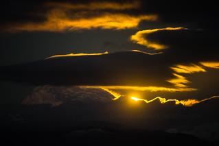 Mount Baker Moonrise Light