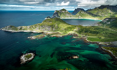 Offersøykammen Panorama, Offersøya, Lofoten Islands, Norge (North Face) Tags: norge norway norwegen ocean sea water mountain mountains peaks clouds landscape seascape bay summer outdoors nature panorama canon eos 5d mark iii 5d3 24105l