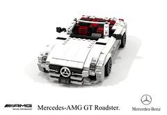 Mercedes-AMG GT Roadster (R190 - 2016) (lego911) Tags: mercedesbenz amg mercedesamg gt roadster convertible 2010s r190 2016 sportscar v8 turbo auto car moc model miniland lego lego911 ldd render cad povray german supercar