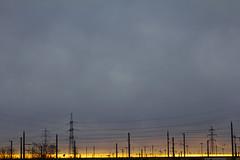 Power Line (CoolMcFlash) Tags: landscape nature sunlight light cloud cloudy weather vienna austria canon eos 60d silhouette negativespace landschaft natur sonnenlicht licht winter wolke bewölkt wetter wien österreich kontur fotografie photography sunset minimalistic minimalism tamron a007 2470 horizont horizon