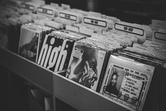 HIP-HOP Classics (KevinHillPhotography) Tags: records record austin blackwhite bw sepia tones sepiatone hat potrait music texas tx vintage classic old oldschool turntables turn tables searching looking thought finding hip hop hiphop black white atx country jazz blues psychedelic sound