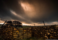 Gateway To The Dales (Richard Walker Photography) Tags: clouds landscape malham nature stormy gate tree yorkshiredales mountains sunrise