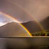 Double Rainbow, Alouette Lake (martincarlisle) Tags: alouettelake goldenearsprovincialpark mapleridge fraservalley britishcolumbia canada rainbows doublerainbows lakes rain sunlight sonycameras nikonlenses parks provincialparks nwn