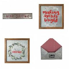 Galvanized Christmas Plaques & Envelope (Heath & the B.L.T. boys) Tags: galvanized metal mailbox christmas words chalkboard