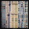 Manhattan Sandwich II (Ilan Shacham) Tags: abstract architecture windows graphic buildings styles frankgehry skyscraper city compressed fineart fineartphotography pattern repetition ny nyc manhattan newyork us usa square contemporary modern