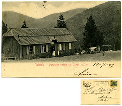 Vetriolo, Panarotta veduta dai compi, L.M.T., spedita 1903 (Ecomuseo Valsugana   Croxarie) Tags: cartolina vetriolo panarotta 1903 levicoterme