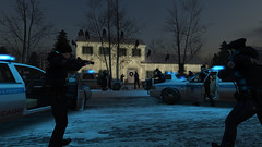 ♫ Here comes Santa Claus ♫ (Andy2 Spore) Tags: trboutfitters trb christmas vacation winter chicago police dominator psc silverhawk swat tactical raid clark griswold xmas house suburb city holiday snow botanical 1989 secondlife
