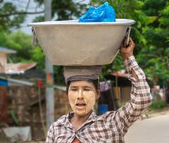 Burmese woman, Dali Myanmar (Burma) (JJ Doro - Bangkok) Tags: yangon asian burmese asia lotion rangoon thanaka skinlotion burma dala ruralasia