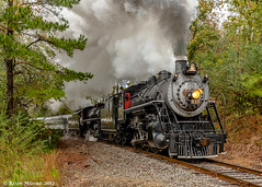 A brief pause in the rain (kdmadore) Tags: tvrm tennesseevalleyrailroadmuseum chattoogachickamaugarailway southernrailway sou630 sou4501 railroad steamlocomotive train summerville doubleheader