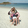 Beach walk (andyhallphoto) Tags: mamiya6 mamiyag50mmf4 mediumformat analogue film rangefinder 120 6x6 square squareformat islesofscilly tresco