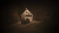 Another Long Night (llabe) Tags: cinematic mood oldbuilding garage car night nightlights steilacoom washington nikon d750
