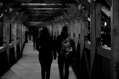 Disturbed (Carandoom) Tags: black white people disturbed blurry 2017 grenoble france winter personnes
