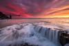 Aquel amanecer especial. (Caramad) Tags: mar landscape colores marcantábrico light agua cargadero luz wate amanecer sunrise rocas cantabria sea wave rocks seascape mioño olas españa playa