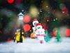 Saige and Lunatix (minifigphoto) Tags: lego legophotography legoart miniatureart miniaturephoto minifigs cute kawaii minifigure legoaddict legoaddiction legolove legofun upclose macro toyphotography lovephotography geek toyphotographers christmas snow faun flute pan lamppost skeletons tree