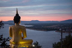 Overlooking (fredMin) Tags: travel paksé laos mekong serene calm beauty buddha asia sunset fujifilm xt1