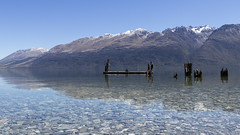 Calm Day at Little Paradise Wharf, New Zealand (Arran Bee) Tags: reflection water nature landscape lake wharf quiet tranquil travel new zealand panorama canon 80d outdoor mountains sky horizon mountain snow mountainside serene
