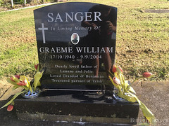Headstone - Graeme William Sanger