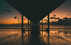 Dawn Under the Pier (RTA Photography) Tags: remembrancesunday paignton sunrise pier sky clouds lowtide rtaphotography nikond750 nikkor1835 18mm seascape torbay fullframe fx