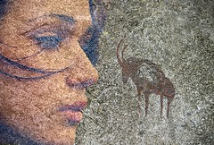 Painting On The Cave Wall (swong95765) Tags: caveman drawings art paint granite rock wall cave