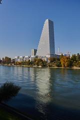 Tower in Basel with simmer (Basel101) Tags: rhein turm basel schweiz swiss switzerland swimming promenade river rhinge