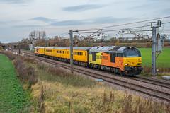67027 In Colas Livery At Hambleton (Richard Croft136) Tags: class 67 colas network rail yellow orange mk1 mk2 generator inspection nmt brake