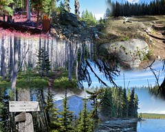 SQUAW LAKE Collage (dinannee) Tags: