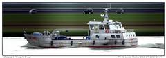 TX-96 Louise Marlou (Morthole) Tags: slitscan ship boat schip boot barge binnenvaart schiff rheinschiff tx96louisemarlou fishingship fishingboat vissersboot fischerboot bateaudepeche