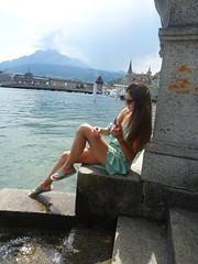 nipple-flash in Lucerne (faberlatusm - 250'000'000 views) Tags: erotic sexy teasing fashion elegance breast nipple sightseeing
