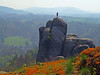 Bastei scene (Vid Pogacnik) Tags: germany saxony saxonswitzerland outdoors hiking landscape rocktowers rockformations bastei