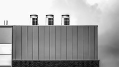 Lines and boxes (PhredKH) Tags: photosbyphredkh phredkh fredkh splendid architecture sky blackandwhite monochrome bw building buildingstructure southgate northlondon london outdoorphotography canonphotography canoneos canoneos7dmarkii 70200mm ef70200mmf28lisiiusm lines geometric