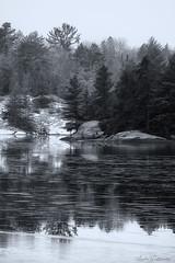 Shanty Bay (Lindaw9) Tags: lake shanty bay treeline point rocks snow reflections northern ontario frenchriverdistrct