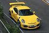 Porsche, 991 GT3RS, Wan Chai, Hong Kong (Daryl Chapman Photography) Tags: 3238 porsche 911 991 gt3rs german hongkong china sar canon 5d mkiii 70200l pan panning panningphotography yellow car cars carspotting carphotography auto autos automobile automobiles wanchai