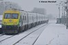 4008 passes Portlaoise, 10/12/17 (hurricanemk1c) Tags: railways railway train trains irish rail irishrail iarnród éireann iarnródéireann portlaoise 2017 snow caf mark4 intercity 4008 1200heustoncork
