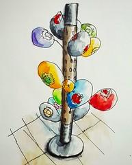 Les ballons du MacDo 😁 (cecile_halbert) Tags: dessin encre aquarelle carnet watercolor sketch draw ink sketching sketchinglife sketcher usk uskfrance moleskine artbook artjournal artdiary journaling journaladdict journalling urban urbansketchers urbansketching urbansketch urbansketcher macdo ballons croquis