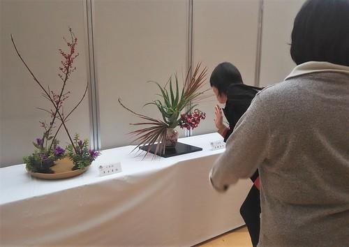 flowers arranged according to the Ohara-ryu