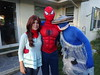 Callie, Richard, and Isaac (dougmartin571) Tags: halloween spiderman mj sharknado