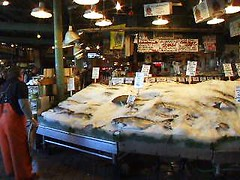 Fish Throw - Pike Place Fish Market in Seattle (sjb4photos) Tags: seattle washington pikeplacemarket pikeplacefishthrow