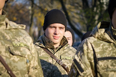 Student of Military Institute (markin.photography) Tags: ukraine kiev military student ak74 lesson street portrait troops forces troop force array