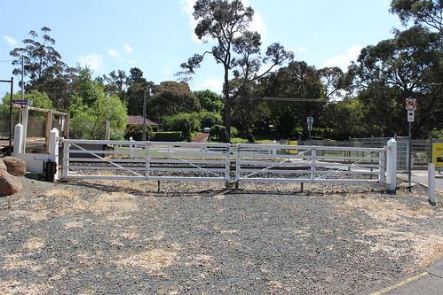 Old boom gates at Macedon Railway Station