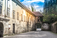 Bistra - a road through a castle (rlubej) Tags: notranjska castle ontheroad