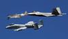 Heritage (crusader752) Tags: usairforce heritageflight 2017 nasjacksonville airshow wwii northamerican p51d mustang fairchild a10a warthog lockheedmartin f22 raptor tyndallafb formation