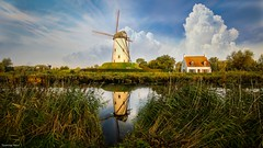 Windmill Damme(BE) - 4138 (YᗩSᗰIᘉᗴ HᗴᘉS +10 000 000 thx❀) Tags: damme flandres belgium moulin windmill sky clouds belgique be bel aa eu europa europe landscape waterscape hensyasmine yasminehens hss greatphotographers