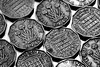 45/52 (2017): Getting on my thrupennies. (Sean Hartwell Photography) Tags: week452017 52weeksthe2017edition weekstartingsundaynovember52017 british coins crrency 3d thrupenny three pence macro predecimal currency
